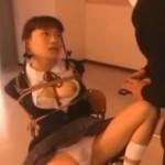 教室で制服緊縛電マ責めに濡れるインモラル天使栗田もも