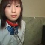 首輪の制服美少女奴隷をホテルでリアル調教