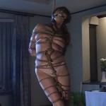 菊池エリ 緊縛吊るされて鞭打たれる巨乳美奴隷