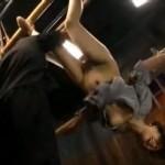 管野しずか 緊縛逆さ吊り拷問の女囚