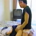 後手縛りされバックから犯されるセーラー服女子校生