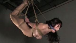 三原ほのか 猿轡に逆海老縛り吊りの美巨乳M女