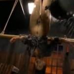 管野しずか 緊縛逆さ吊り水責めに拷問に耐える女囚