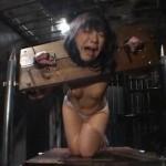 地下室に監禁されギロチン拘束バイブ調教に狂うM女