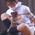 猿轡と胡座縛りのインモラル女子校生