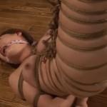 猿轡咬まされ逆さ吊り鞭打ちに絶叫するM女