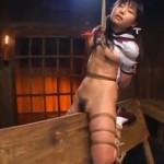 星月まゆら 三角木馬拷問に酔うマゾなセーラー服の美少女