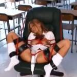 教室でギャルを緊縛電マ責め放置してじっくり眺める
