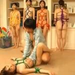 亀甲縛りされた性奴隷玩具たち