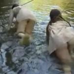 野外で犯される捕虜の女たち