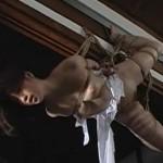 乳首に括りつけられた糸と重し 素晴らしき縛り吊りのエロス
