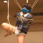 緊縛目隠しローター調教で放置のマゾ女